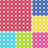 Percalle senza giunte, sei colori Fotografie Stock Libere da Diritti