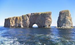 Perce岩石,魁北克,加拿大 库存图片