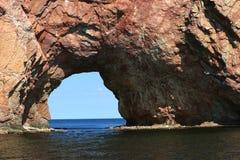 Perce de Rocher dans Gaspesie, Québec Photographie stock libre de droits