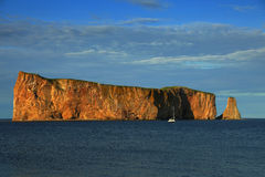 Perce in Gaspesie, Quebec di Rocher Fotografia Stock