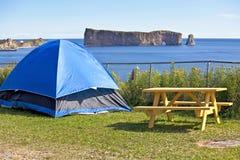 Perce Rock Camping Royalty Free Stock Photo