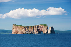 Perce Rock, seen from sea stock image