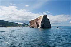 Perce rock seen from tip Royalty Free Stock Photography