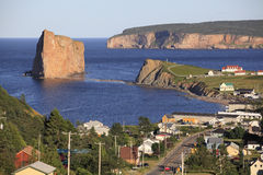 Perce village, Gaspesie, Quebec, Canada Stock Image