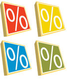 Percent Stock Image