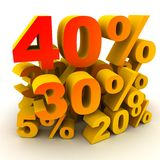 Percent 40 Royalty Free Stock Images