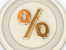 Percent. Three-dimensional graphic image. Percent. 3d vector illustration