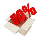 Percent. S in a box on a white background Royalty Free Stock Photography