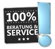 100 percent advice and service. Creative Illsutration Graphic Design Stock Photo