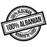 100 percent Albanian rubber stamp. Grunge design with dust scratches. Effects can be easily removed for a clean, crisp look. Color is easily changed Royalty Free Stock Photography