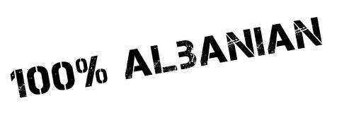 100 percent Albanian rubber stamp. Grunge design with dust scratches. Effects can be easily removed for a clean, crisp look. Color is easily changed Stock Image