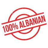 100 percent Albanian rubber stamp. Grunge design with dust scratches. Effects can be easily removed for a clean, crisp look. Color is easily changed Royalty Free Stock Image