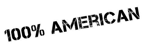 100 percent american rubber stamp. Grunge design with dust scratches. Effects can be easily removed for a clean, crisp look. Color is easily changed Stock Photography