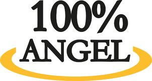 100 percent angel. Vector icon royalty free illustration