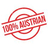 100 percent Austrian rubber stamp. Grunge design with dust scratches. Effects can be easily removed for a clean, crisp look. Color is easily changed Royalty Free Stock Photo