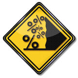 Percent avalanche Royalty Free Stock Image