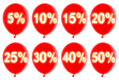 Percent balloons Stock Photography