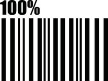 100% percent barcode. Vector icon vector illustration