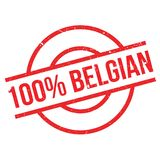 100 percent Belgian rubber stamp Royalty Free Stock Photography