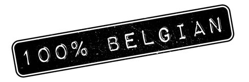 100 percent Belgian rubber stamp Royalty Free Stock Image