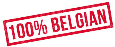 100 percent Belgian rubber stamp Stock Images