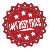 100 percent best price grunge stamp. 100 percent best price red grunge stamp isolated on white background Stock Images