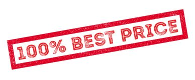 100 percent best price rubber stamp. On white. Print, impress, overprint Royalty Free Stock Images