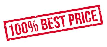 100 percent best price rubber stamp. On white. Print, impress, overprint Royalty Free Stock Photo