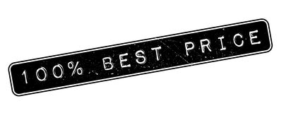 100 percent best price rubber stamp. On white. Print, impress, overprint stock illustration