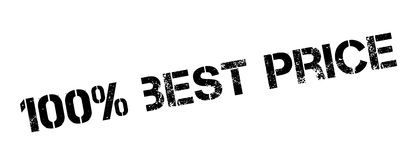 100 percent best price rubber stamp. On white. Print, impress, overprint Royalty Free Stock Photos