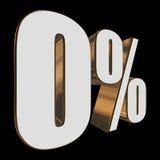0 percent on black background. 3d render illustration Stock Photo