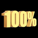 100 percent on black background Royalty Free Stock Images