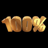100 percent on black background Stock Photo