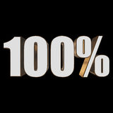 100 percent on black background Royalty Free Stock Photo