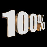 100 percent on black background Stock Image