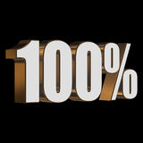 100 percent on black background Royalty Free Stock Photography
