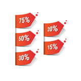 Percent Black Friday Sale Red Tag Banner. Vector Illustration Royalty Free Stock Images