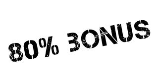 80 percent bonus rubber stamp. On white. Print, impress, overprint Royalty Free Stock Photography