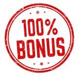 100 percent bonus sign or stamp. On white background, vector illustration royalty free illustration