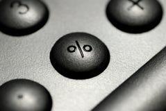 Percent button Stock Image