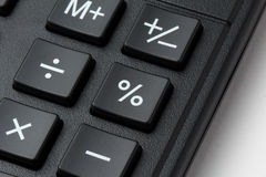 Percent button on calculatror keypad Stock Photo