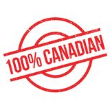 100 percent canadian rubber stamp Royalty Free Stock Photos