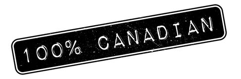 100 percent canadian rubber stamp Royalty Free Stock Image
