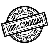 100 percent canadian rubber stamp Royalty Free Stock Photography