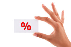 Percent card Royalty Free Stock Images