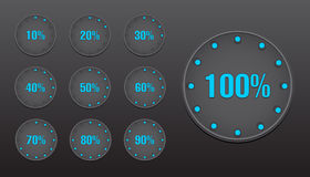 Percent Circle Buttons Stock Photo