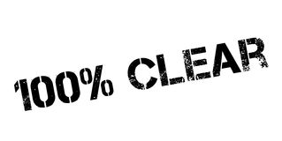 100 percent clear rubber stamp Royalty Free Stock Images