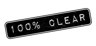 100 percent clear rubber stamp Stock Image