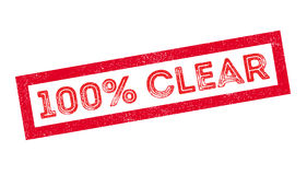 100 percent clear rubber stamp Royalty Free Stock Image