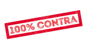 100 percent contra rubber stamp Stock Photos